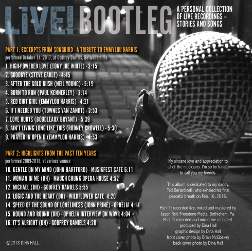 LiVE! BOOTLEG back cover